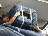 ドラム式洗濯機の吊り作業