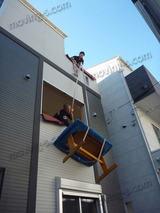 新築一戸建て(三階建)の引越し。冷蔵庫吊り作業有り。