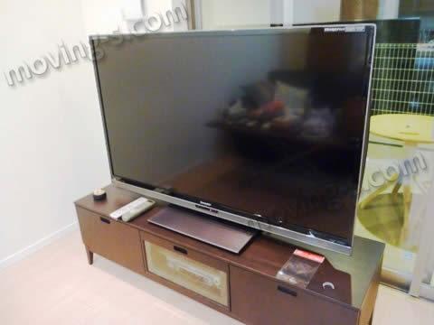 52インチ薄型テレビ。